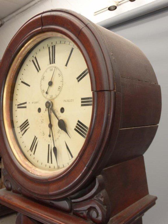 19th c. Scottish Drum Head Grandfather Clock - 5