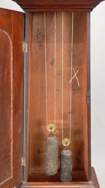 19th c. Scottish Drum Head Grandfather Clock - 7