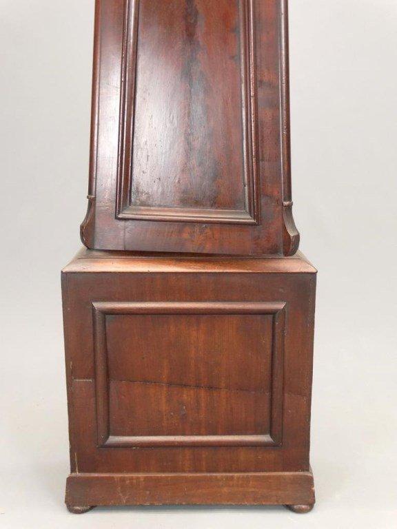 19th c. Scottish Drum Head Grandfather Clock - 8