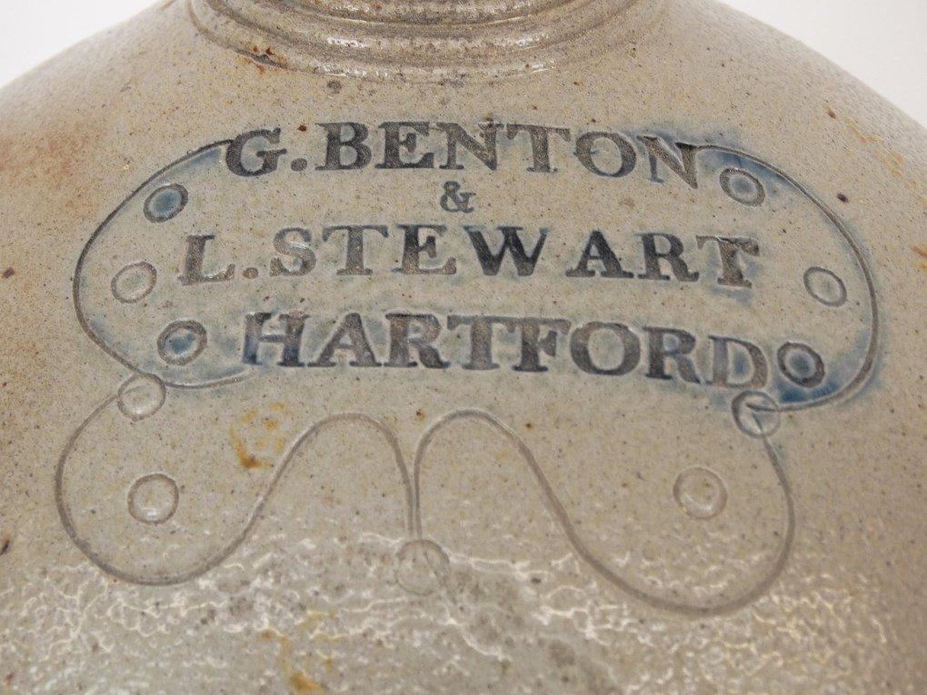 19th c. Stoneware Jug - 2