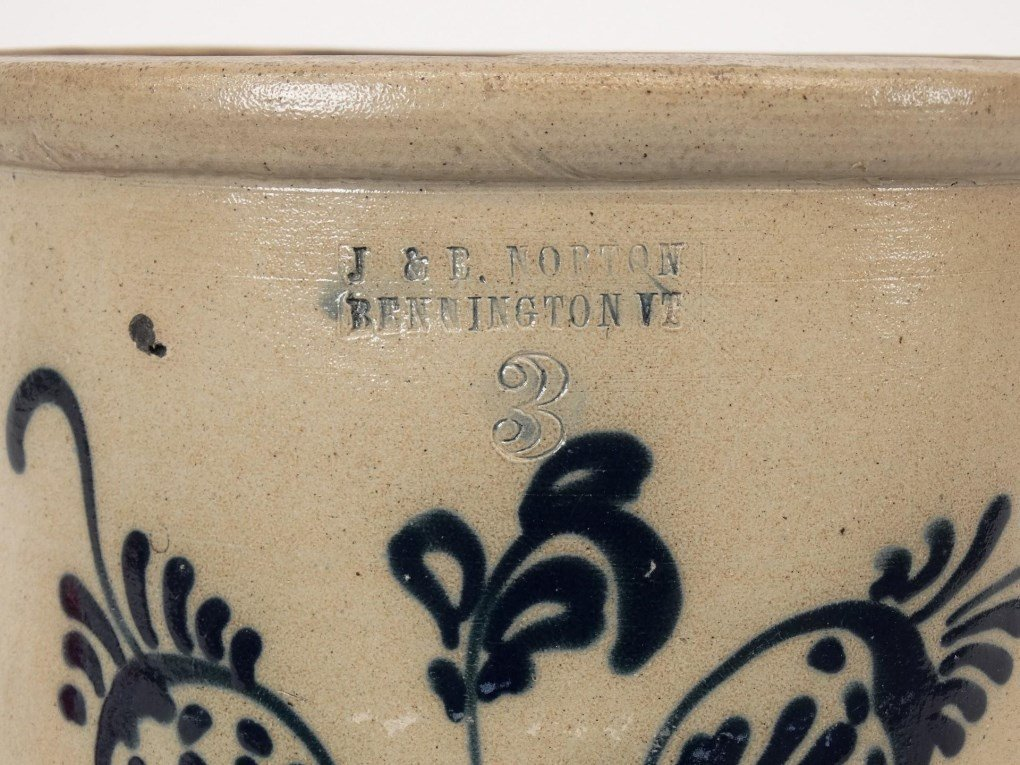 19th c. Stoneware Crock - 2
