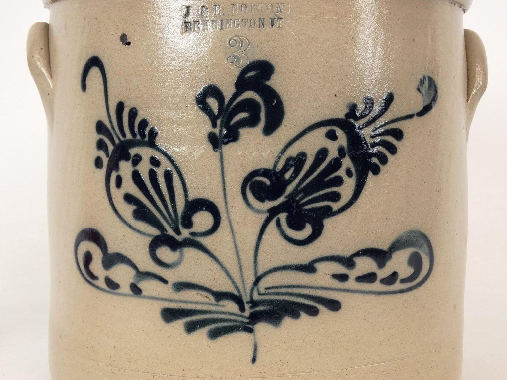 19th c. Stoneware Crock - 3