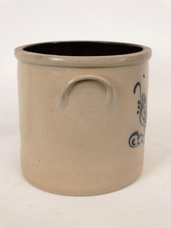 19th c. Stoneware Crock - 4