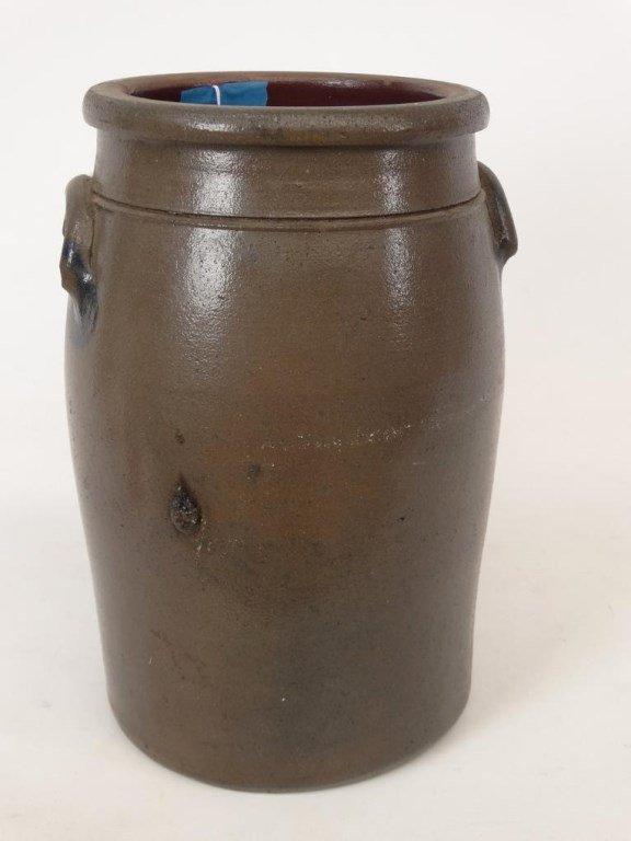 19th c. Stoneware Crock - 5