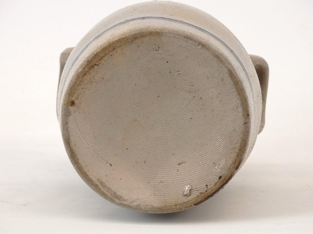 19th c. Stoneware Crock - 5