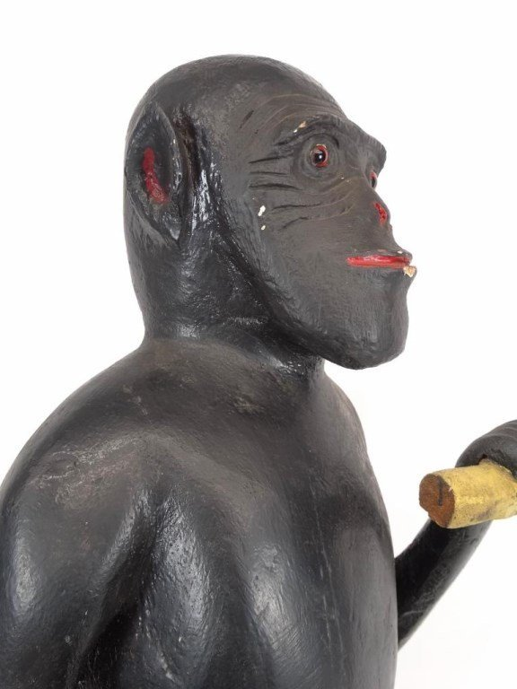 Folk Art Wooden Monkey - 3