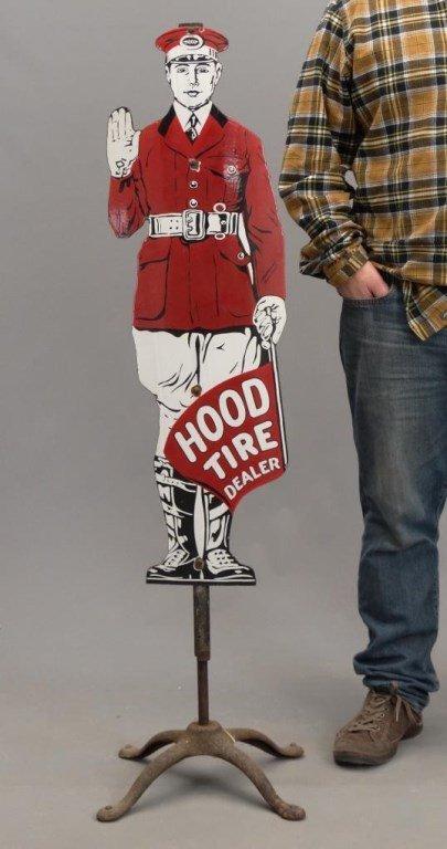 Porcelain Hood Tire Dealer Sign