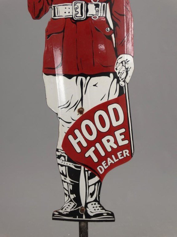 Porcelain Hood Tire Dealer Sign - 4