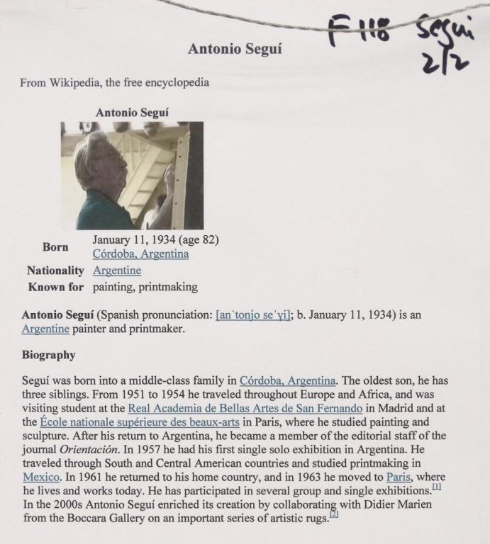 Antonio Segui (Argentine b. 1934) - 7
