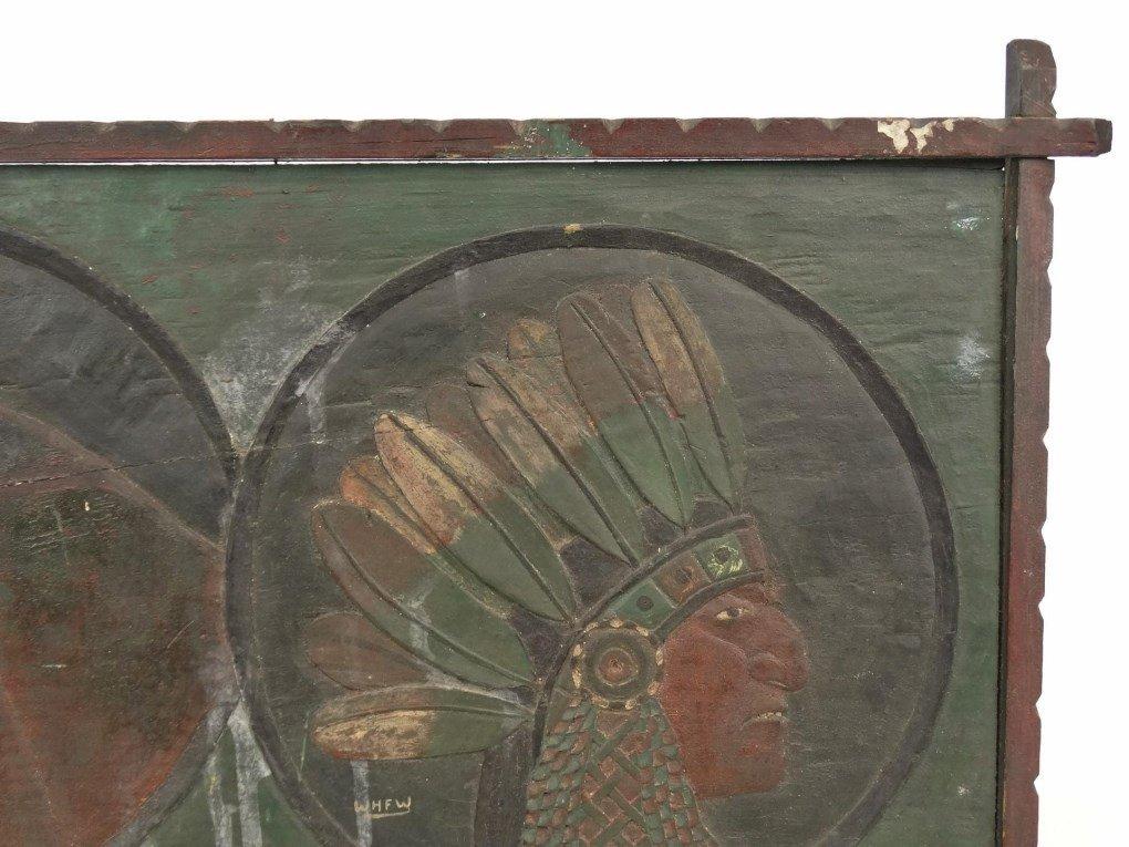 Folk Art Carved Plaque - 2