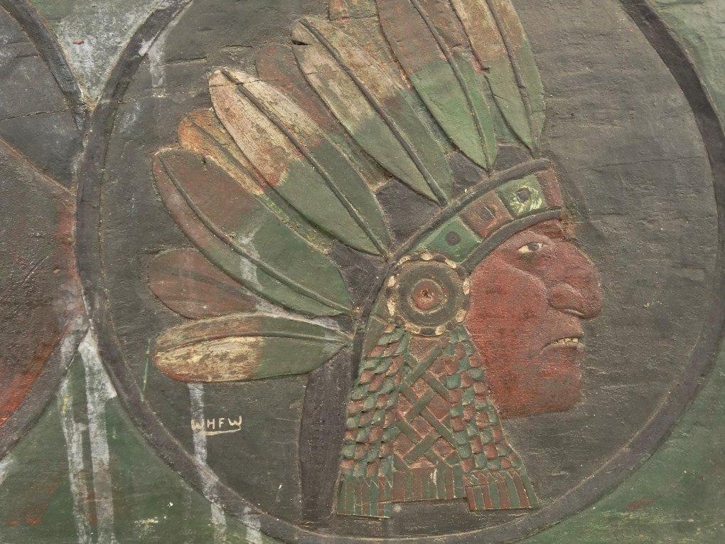 Folk Art Carved Plaque - 3