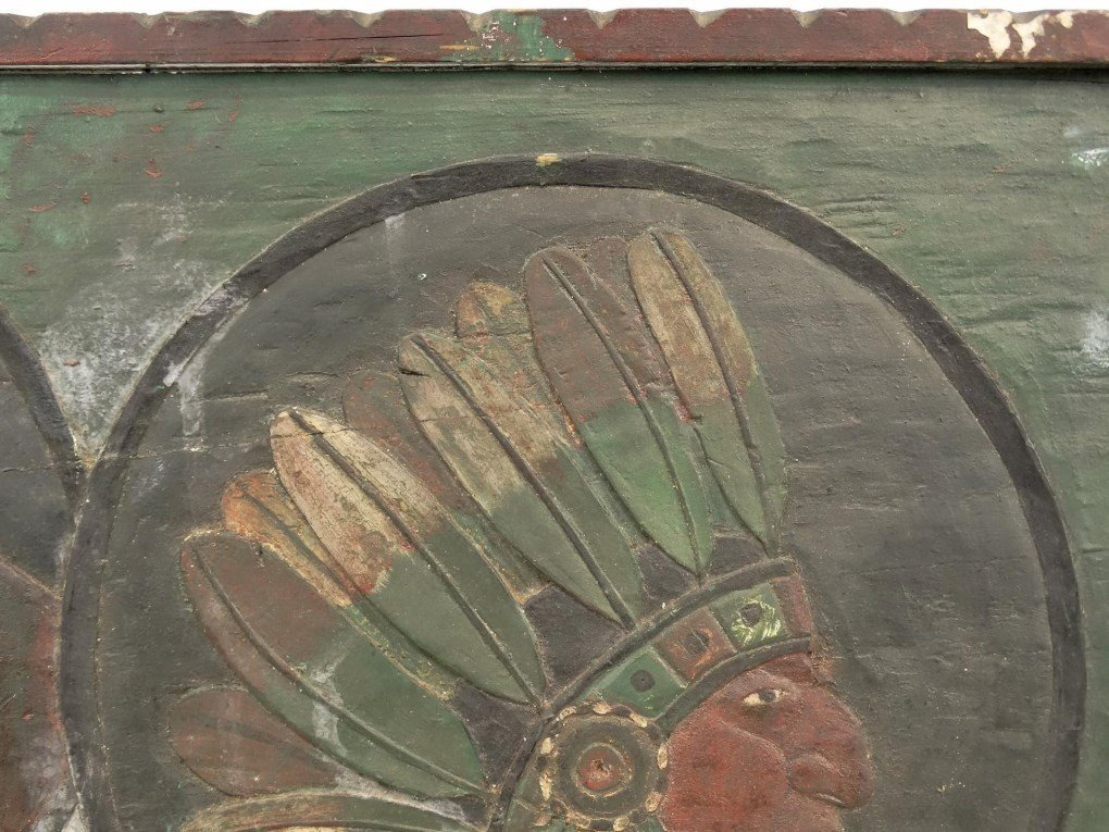 Folk Art Carved Plaque - 4