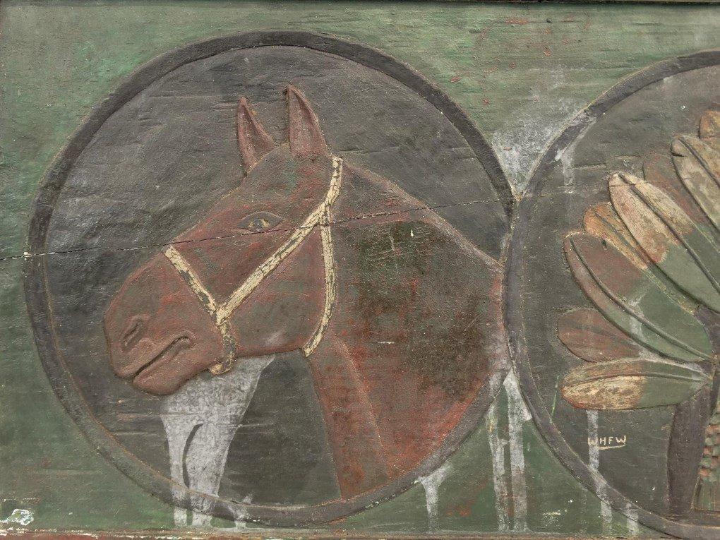 Folk Art Carved Plaque - 5