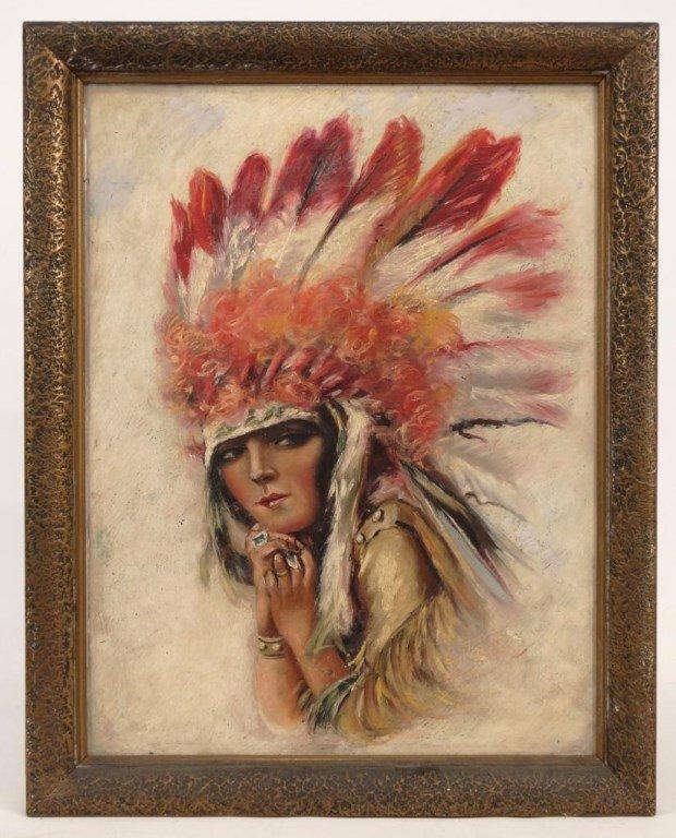 Illustration Of Native American Woman