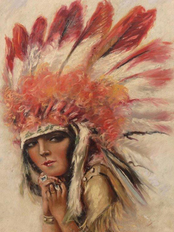 Illustration Of Native American Woman - 3