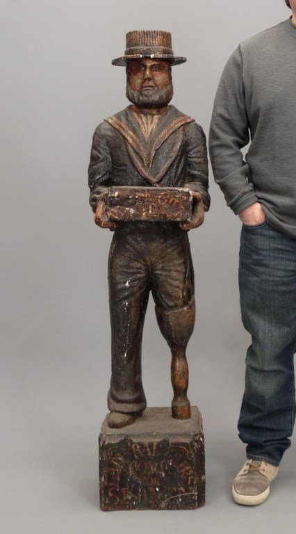 Wooden Sailor Missionary Figure