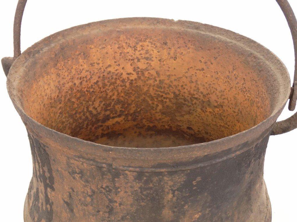18th c. Swing Handle Pot - 5