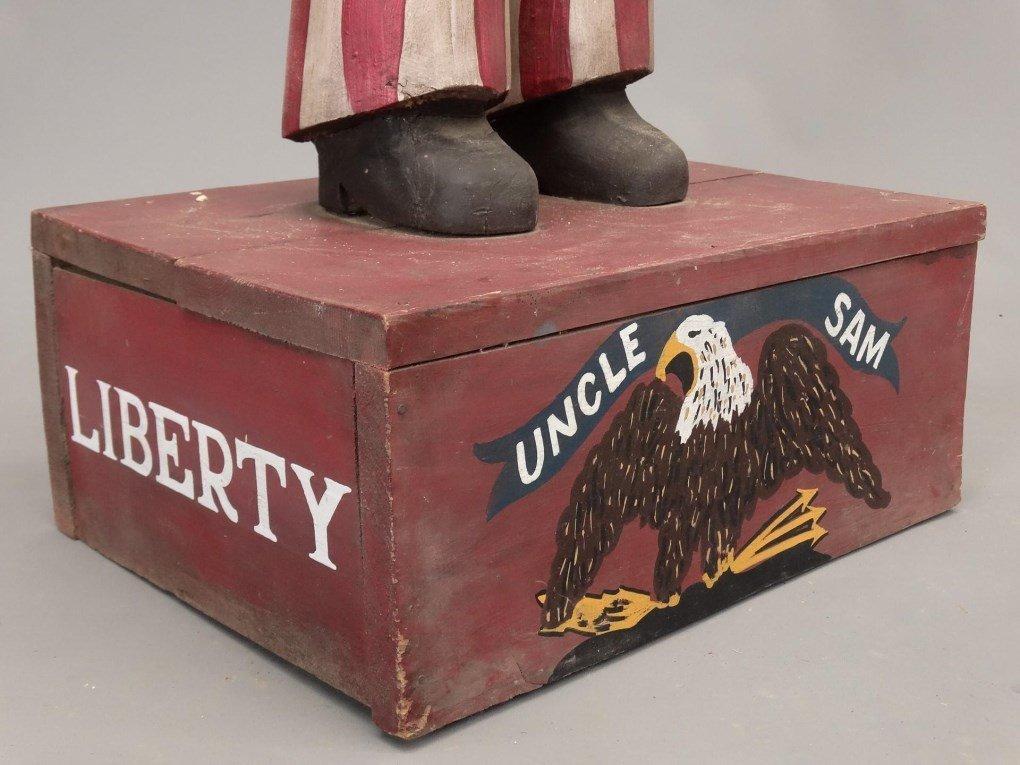 Folk Art Uncle Sam Figure - 10