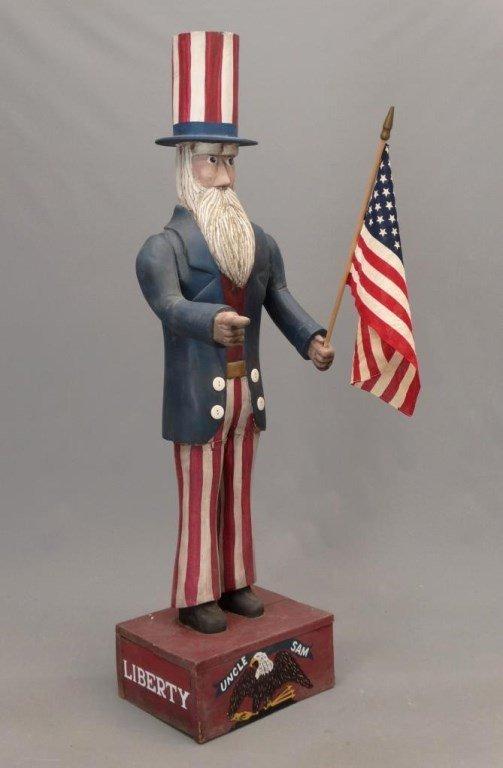 Folk Art Uncle Sam Figure