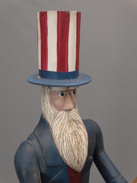 Folk Art Uncle Sam Figure - 3