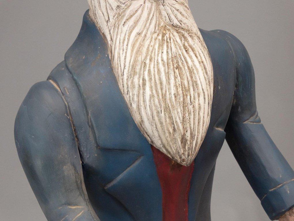 Folk Art Uncle Sam Figure - 4