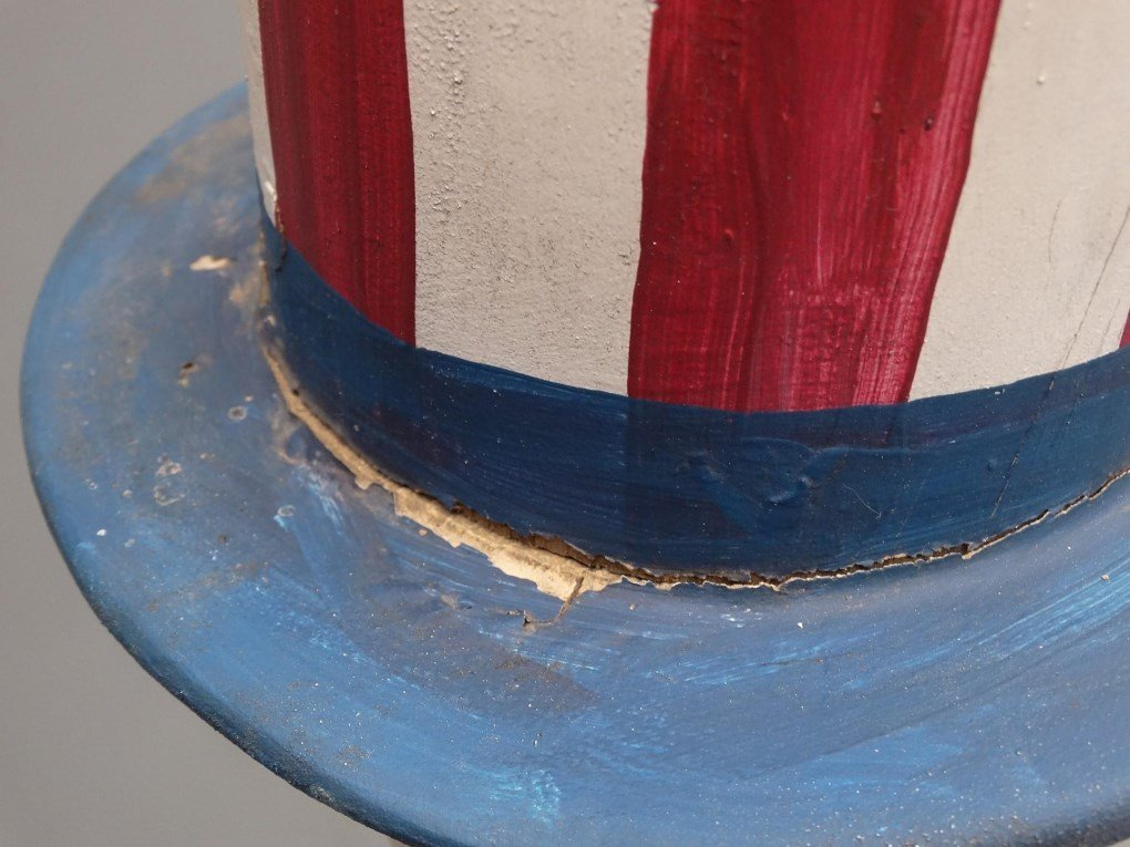 Folk Art Uncle Sam Figure - 5