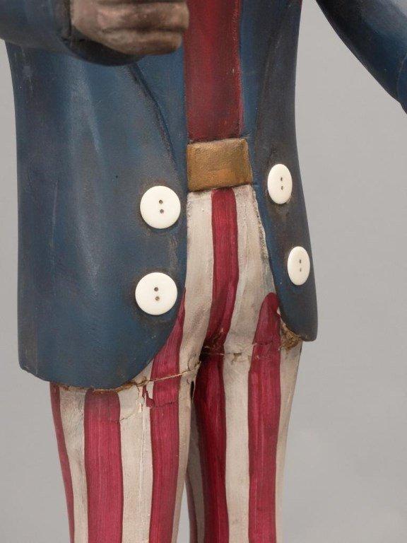 Folk Art Uncle Sam Figure - 6