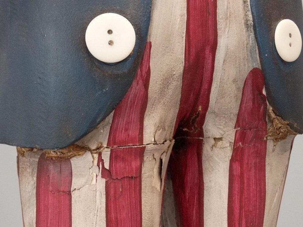 Folk Art Uncle Sam Figure - 7