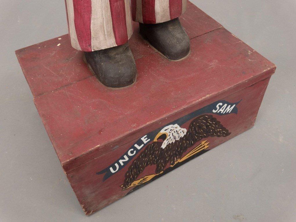 Folk Art Uncle Sam Figure - 8