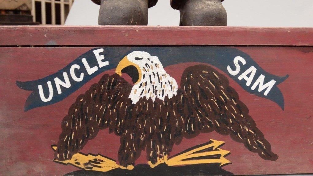 Folk Art Uncle Sam Figure - 9