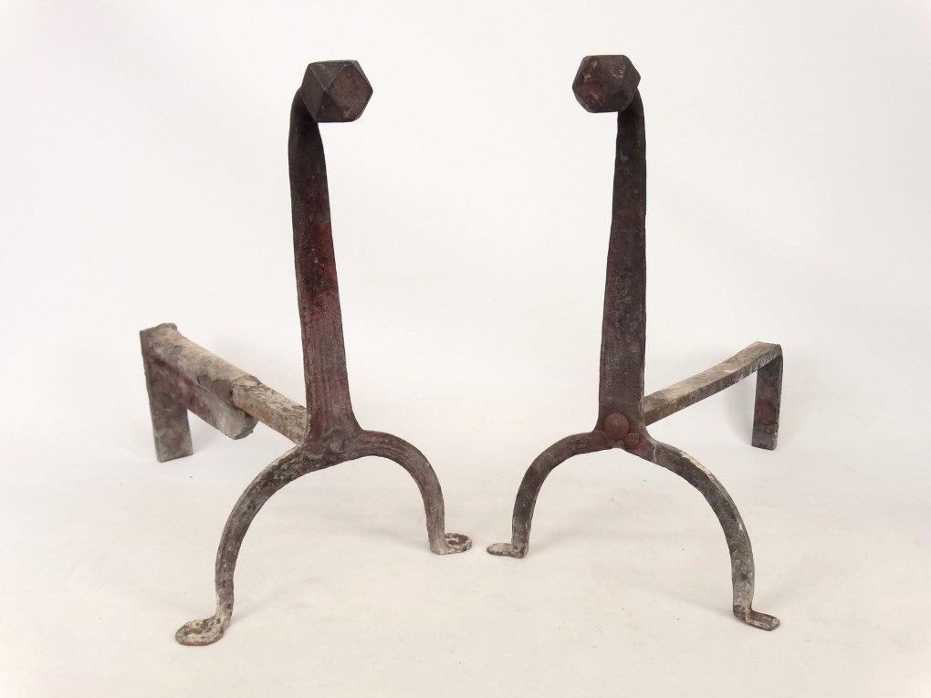 Pair 19th c. Andirons