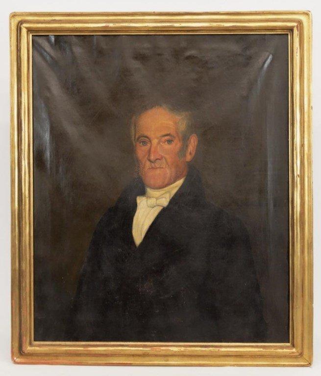 19th c. Portrait Of A Gentleman