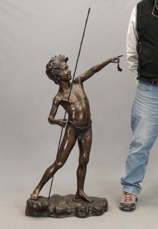 Fishing Boy Bronze