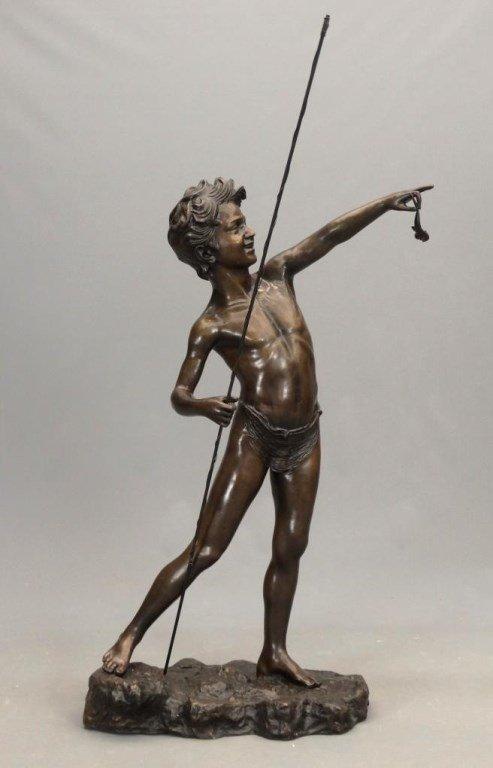 Fishing Boy Bronze - 2