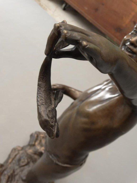 Fishing Boy Bronze - 6