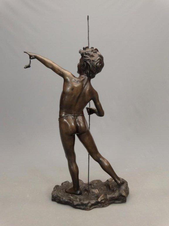 Fishing Boy Bronze - 9