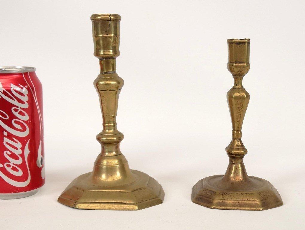 18th c. Brass Candlesticks