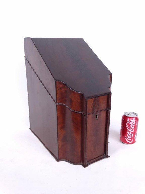 19th c. Mahogany Knife Box