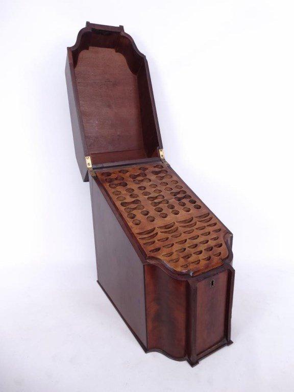 19th c. Mahogany Knife Box - 2