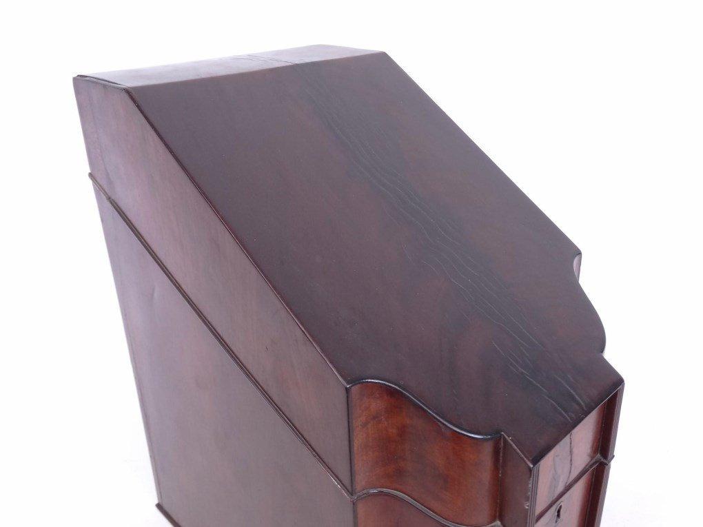 19th c. Mahogany Knife Box - 3