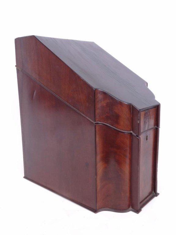 19th c. Mahogany Knife Box - 4