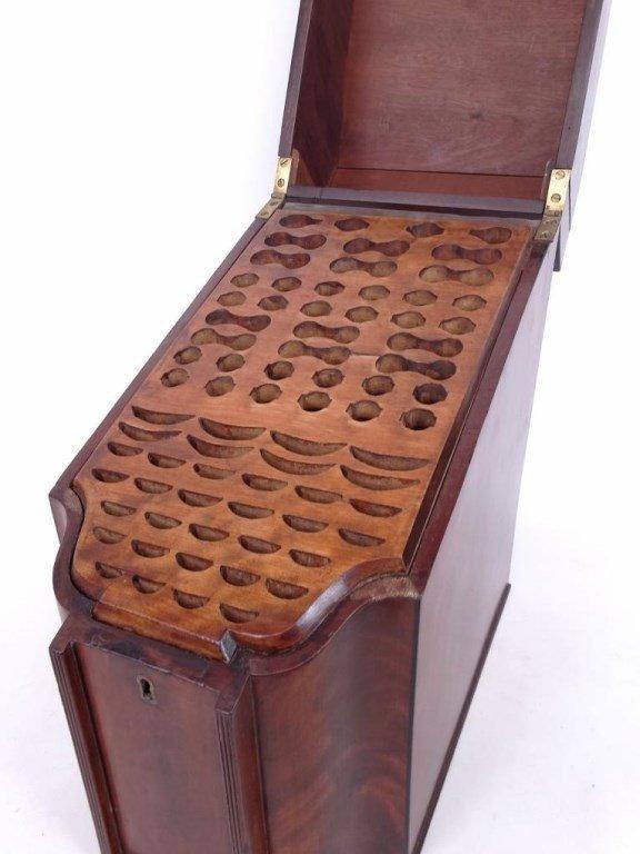 19th c. Mahogany Knife Box - 5