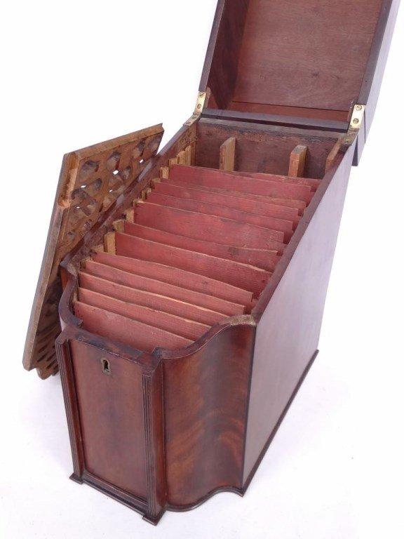 19th c. Mahogany Knife Box - 6