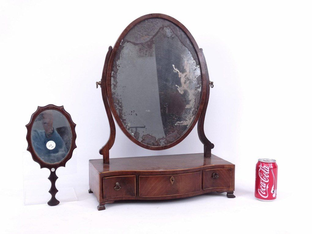19th c. Shaving Mirror