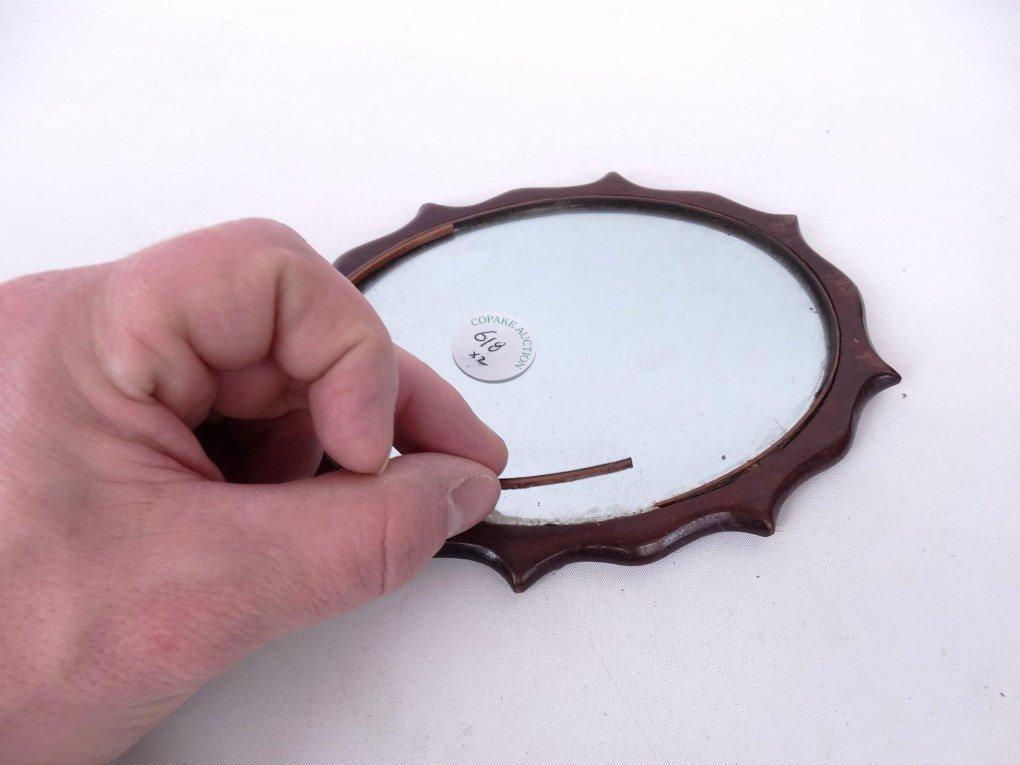 19th c. Shaving Mirror - 7