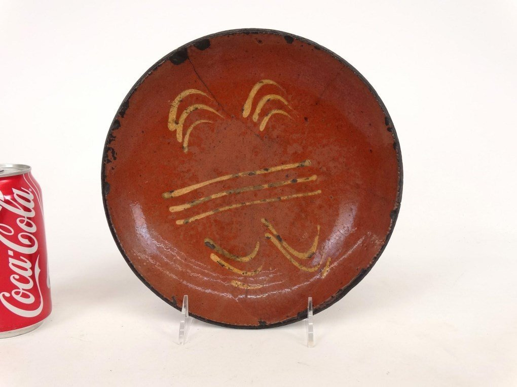 19th c. Redware Dish