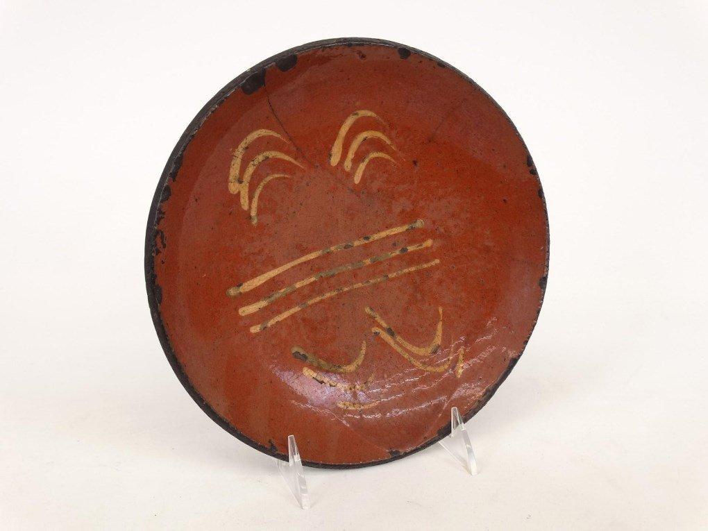 19th c. Redware Dish - 2