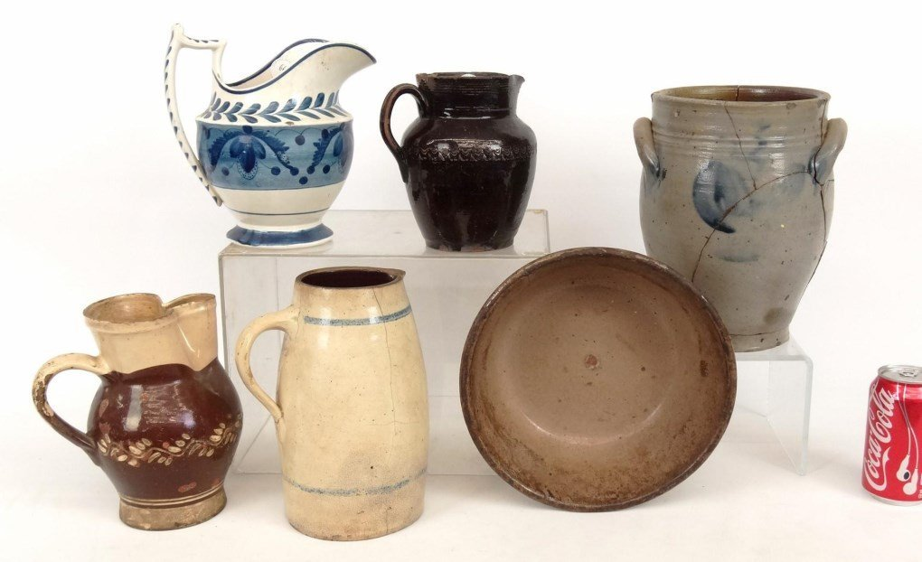 19th c. Pottery Lot