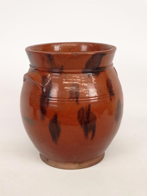 19th c. Redware Crock - 2