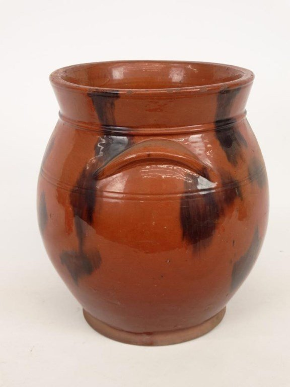 19th c. Redware Crock - 4